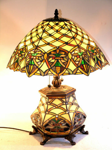 Tiffany Style All Glass Arielle Table Lamp by Warehouse of Tiffany 3046#LGLS - PeazzLighting