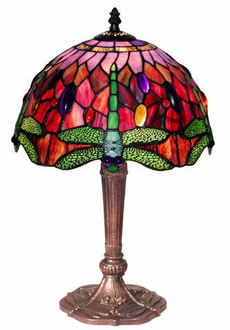 Tiffany Style Dragonfly Table Lamp by Warehouse of Tiffany 305C+MB45 - PeazzLighting
