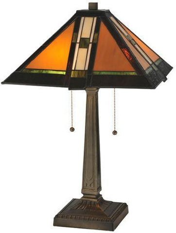 "Meyda Tiffany 119654 22""H Montana Mission Table Lamp - PeazzLighting"