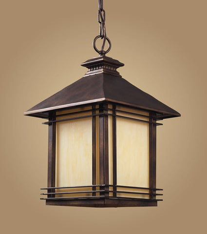 ELK Lighting 42103-1 One Light Outdoor Pendant In Hazlenut Bronze - PeazzLighting