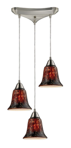 ELK Lighting Confections/Fudge 3- Light Pendant In Satin Nickel - 31130/3FDG - PeazzLighting