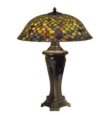 Meyda Tiffany 31115 Tiffany Fishscale Table Lamp  - PeazzLighting