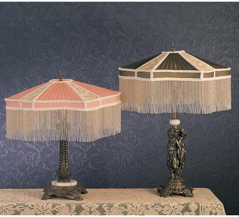 Meyda Tiffany 49469 Persian Fabric With Fringe Table Lamp  - PeazzLighting