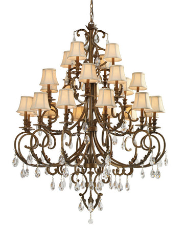Crystorama 6907-FB-CL-S 12-Lights Clear Swarovski Elements Crystal Wrought Iron Chandelier - Florentine Bronze - PeazzLighting