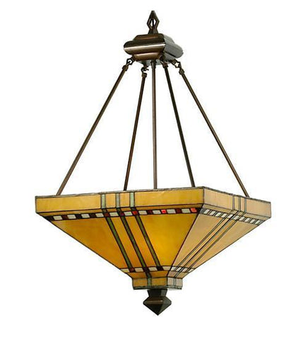"Meyda Tiffany 50621 17""Sq Prairie Corn Inverted Pendant - PeazzLighting"