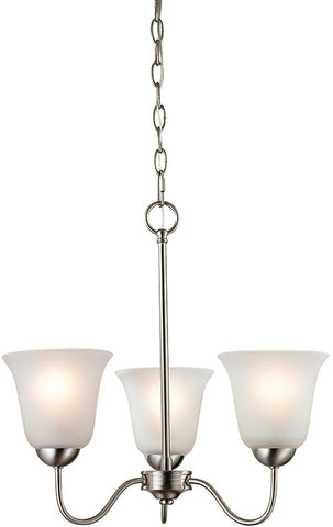 Cornerstone 1203CH/20 Conway 3 Light Chandelier In Brushed Nickel - PeazzLighting