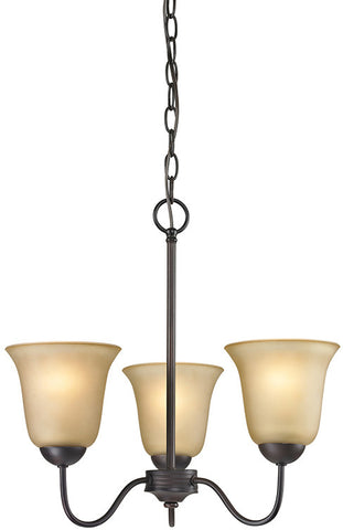 Cornerstone 1203CH/10 Conway 3 Light Chandelier In Oil Rubbed Bronze - PeazzLighting