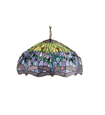 "Meyda Tiffany 46584 22""W Tiffany Hanginghead Dragonfly Pendant - PeazzLighting"