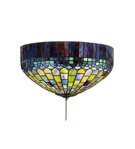"Meyda Tiffany 23820 16""W Tiffany Candice Fan Light Fixture - PeazzLighting"