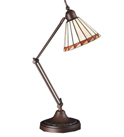 "Meyda Tiffany 65946 23""H Prairie Mission Adjustable Desk Lamp - PeazzLighting"