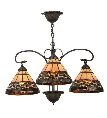 "Meyda Tiffany 147729 28""W Ilona 3 Lt Chandelier - PeazzLighting"