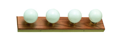 "Design House 500207 500207 4 Light Honey Oak 24"" Bath Light Honey Oak - PeazzLighting"