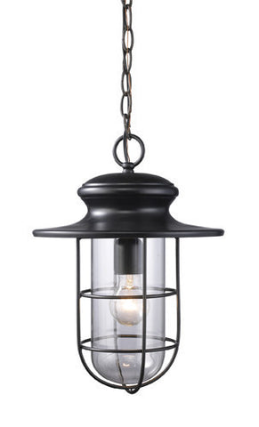 ELK Lighting 42286-1 Portside One Light Outdoor Pendant In Matte Black - PeazzLighting