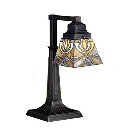 "Meyda Tiffany 27636 20""H Glasgow Bungalow Desk Lamp - PeazzLighting"