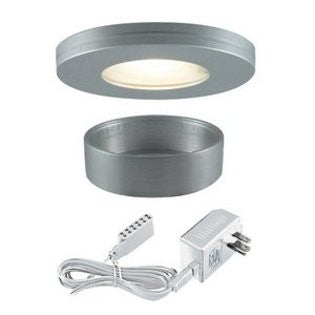 Jesco Lighting KIT-PK501-BA-A Xenon Straight Edged Slim Disk with Frosted Glass Lens Kit-Brushed Aluminum - PeazzLighting