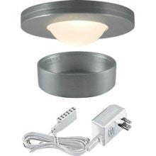 Jesco Lighting KIT-PK503-BA-A Xenon Straight Edged Slim Disk with Dipped Frosted Glass Lens Kit-Brushed Aluminum - PeazzLighting
