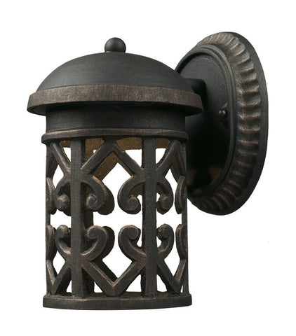 ELK Lighting Tuscany Coast 1- Light Outdoor Sconce In Weathered Charcoal - 42365/1 - PeazzLighting