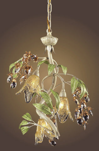 ELK Lighting Lighting 86051 Three Light Chandelier In Seashell And Amber Glass - PeazzLighting - 2