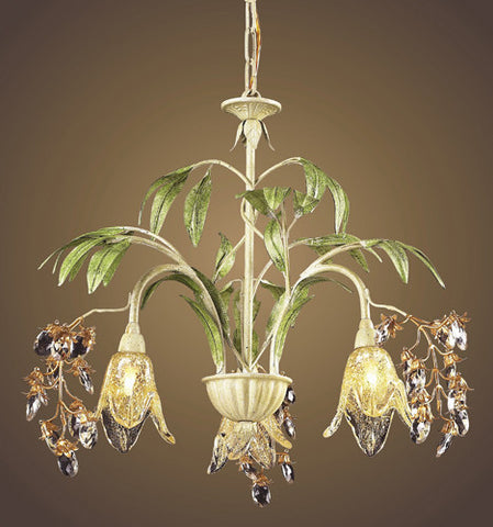ELK Lighting Lighting 86052 Three Light Chandelier In Seashell And Amber Glass - PeazzLighting - 2