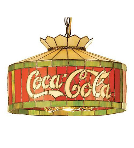 "Meyda Tiffany 29259 16""W Coca-Cola Pendant - PeazzLighting"