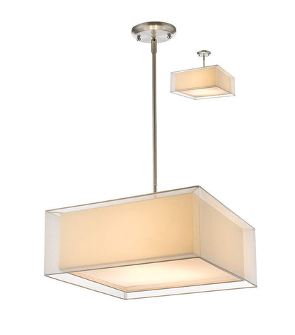 Z-Lite 193-24W-C 3 Light Convertible Pendant - ZLiteStore