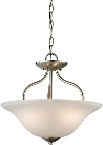 Cornerstone 1202CS/20 Conway 2 Light Semi-Flush In Brushed Nickel - PeazzLighting