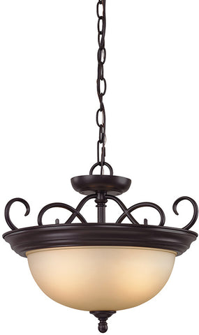 Cornerstone 1102CS/10 Chatham 2 Light Convertible In Oil Rubbed Bronze - PeazzLighting