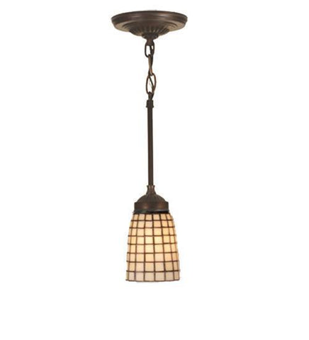 "Meyda Tiffany 30176 4.5""W Terra Bone Mini Pendant - PeazzLighting"