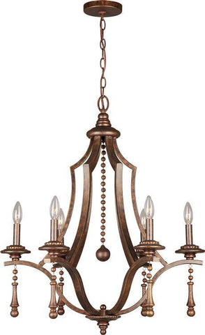 Crystorama 9356-EB Parson 6 Light Bronze Chandelier - PeazzLighting