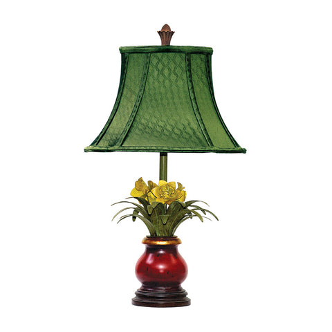 Sterling Industries 91-083 Flowers In Ruby Vase Lamp - PeazzLighting