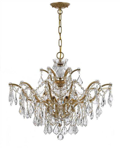 Crystorama 4459-GA-CL-S Filmore 6 Light Swarovski Elements Gold Chandelier - PeazzLighting