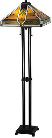 "Meyda Tiffany 130751 56""H Abilene Floor Lamp - PeazzLighting"