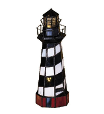 "Meyda Tiffany 20539 10""H Cape Hatteras Lighthouse Accent Lamp - PeazzLighting"