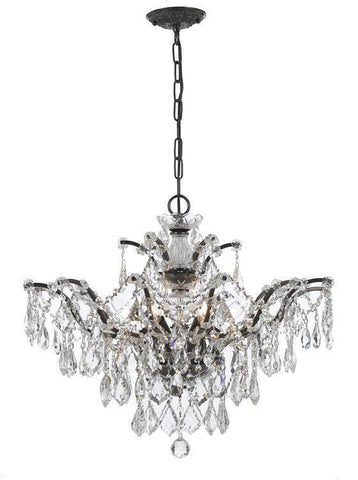 Crystorama 4459-VZ-CL-S Filmore 6 Light Swarovski Elements Bronze Chandelier - PeazzLighting