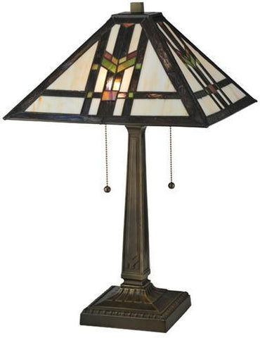 "Meyda Tiffany 119641 22""H Prairie Wheat Table Lamp - PeazzLighting"