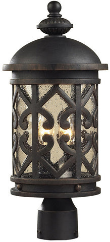 Cornerstone 7202EP/71 Tuscany Coast 2 Light Exterior Post Lamp In Weathered Charcoal - PeazzLighting