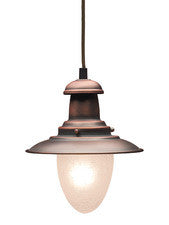 Landmark 010-AC Railroad One Light Pendant in Antique Copper - PeazzLighting