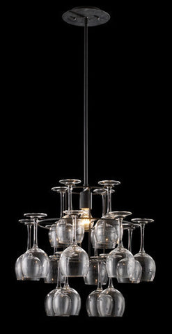 ELK Lighting Lighting 14040-1 Vintage One Light Chandelier In Dark Rust With Glass - PeazzLighting - 2