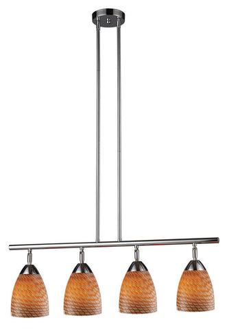 ELK Lighting Celina Celina 4-Light Linear In Polished Chrome And Coco Glass - 10153/4PC-C - PeazzLighting