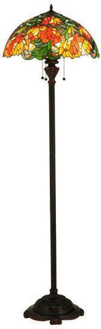 "Meyda Tiffany 134535 66""H Lamella Floor Lamp - PeazzLighting"