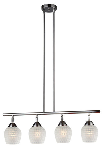 ELK Lighting Celina Celina 4-Light Linear In Polished Chrome And White Glass - 10153/4PC-WHT - PeazzLighting