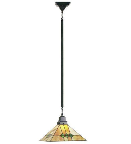 "Meyda Tiffany 49118 13""Sq Martini Mission Pendant - PeazzLighting"