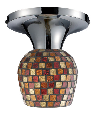 ELK Lighting Celina Celina 1-Light Semi-Flush In Polished Chrome And Multi Fusion Glass - 10152/1PC-MLT - PeazzLighting