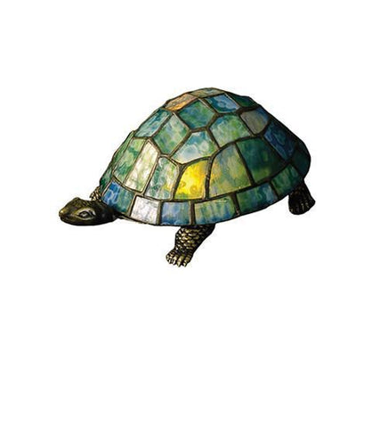 Meyda Tiffany Turtle Tiffany Glass Accent Lamp - PeazzLighting