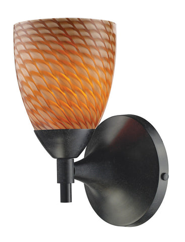 ELK Lighting Celina Celina 1-Light Sconce In Dark Rust With Coco Glass - 10150/1DR-C - PeazzLighting