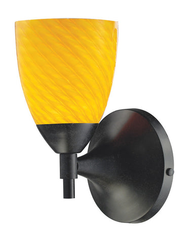 ELK Lighting Celina Celina 1-Light Sconce In Dark Rust With Canary Glass - 10150/1DR-CN - PeazzLighting