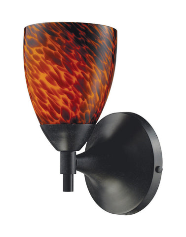 ELK Lighting Celina Celina 1-Light Sconce In Dark Rust And Espresso Glass - 10150/1DR-ES - PeazzLighting
