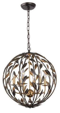 Crystorama 506-EB-GA Broche 6 Light Bronze Sphere Chandelier - PeazzLighting