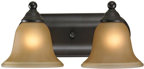 Cornerstone 5502BB/10 Shelburne 2 Light Bathbar In Oil Rubbed Bronze - PeazzLighting