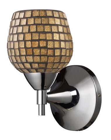 ELK Lighting Celina Celina 1-Light Sconce In Polished Chrome And Gold Glass - 10150/1PC-GLD - PeazzLighting